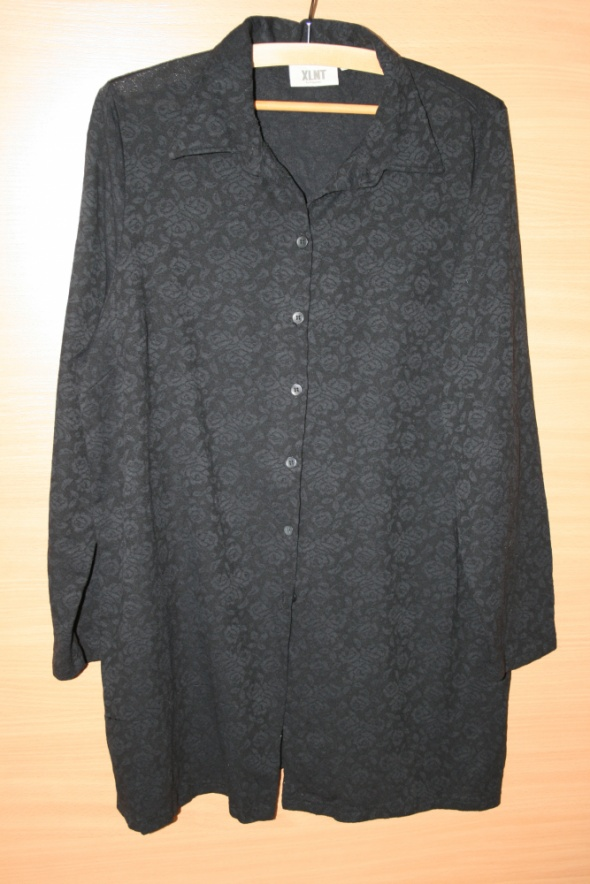 Bluzki Koronkowa czarna bluzka