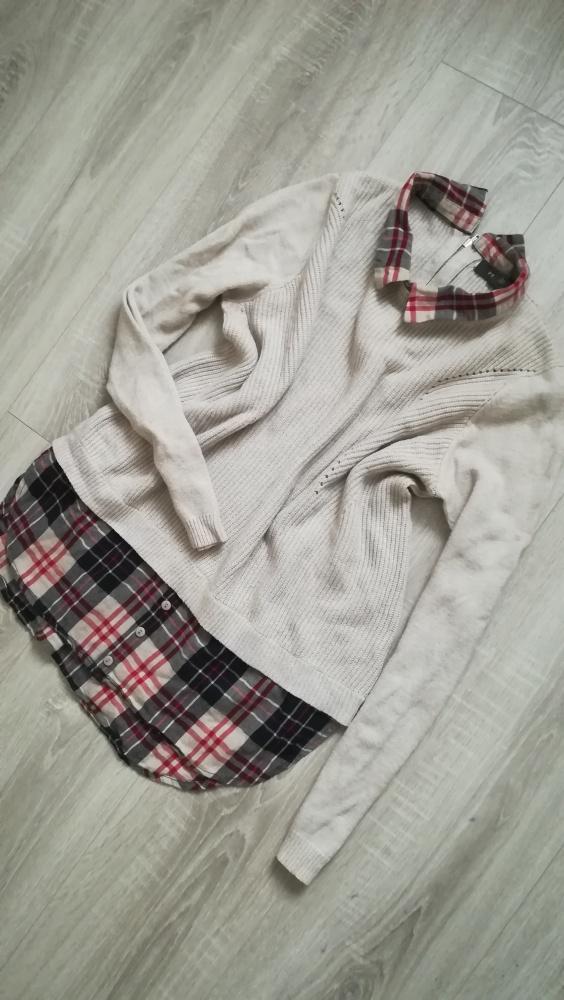 Sweterek z koszulą