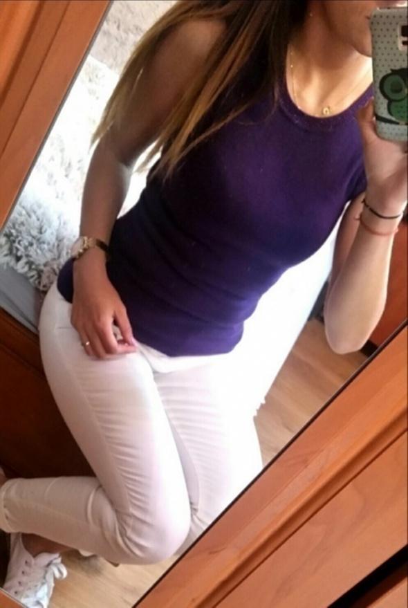 Fioletowa sweterkowa bluzka a wear...