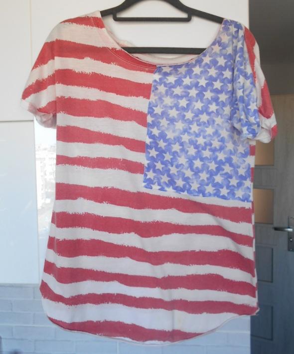 Asos koszulka nadruk flaga usa tshirt oversize...
