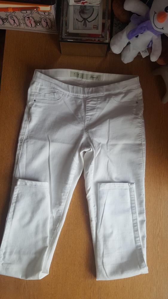 Biale spodnie jeansy jeginsy denim co xs s...