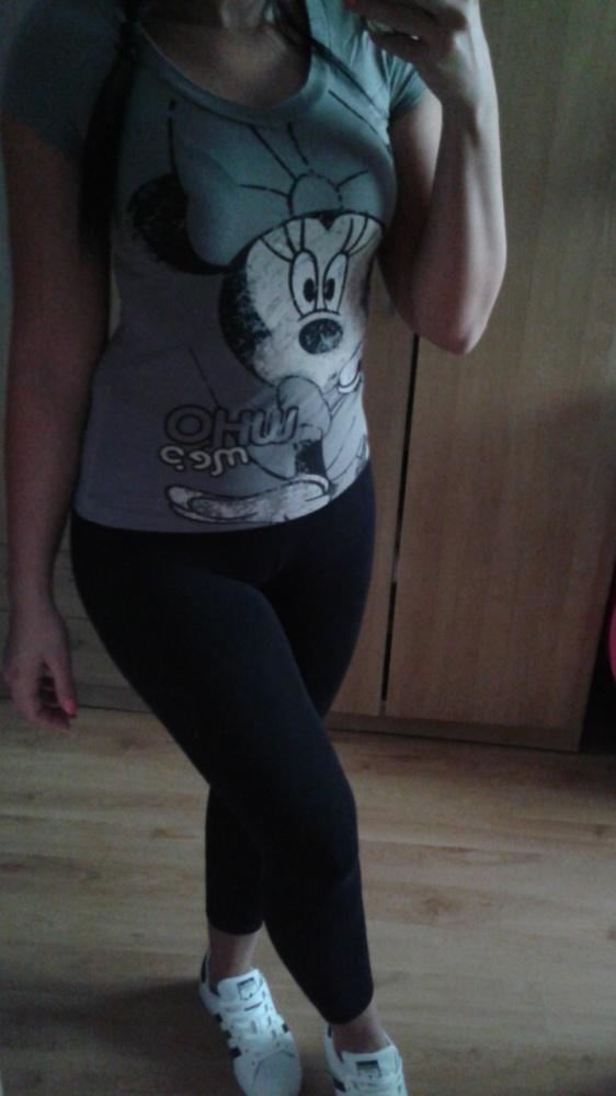 T-shirt Koszulka bluzka Disney szara xs myszka miki