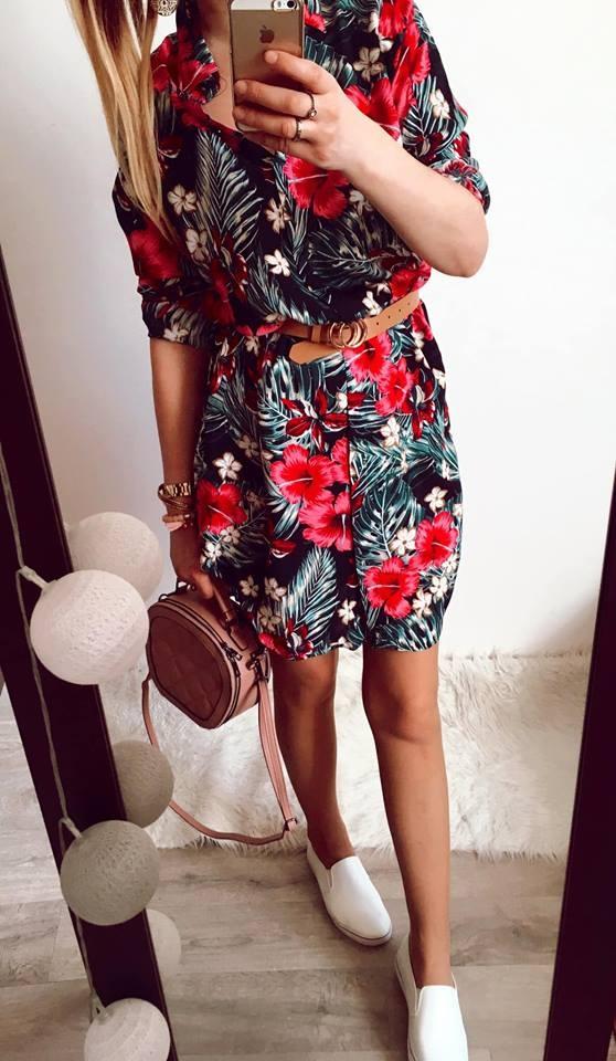 Suknie i sukienki Sukienka Damska w kwiaty szmizjerka M
