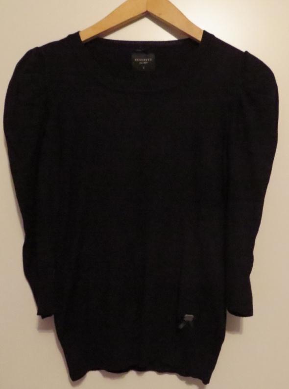 czarny elegancki sweter z bufkami xs