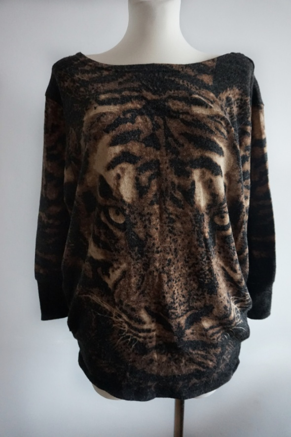 Sweter tygrys oversize S M...