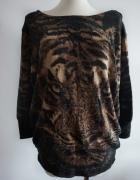 Sweter tygrys oversize S M