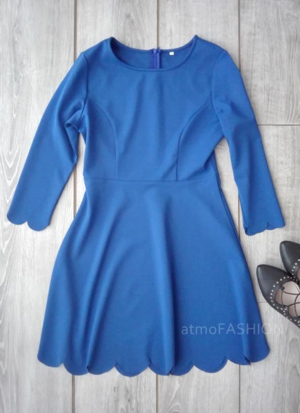 shein romwe sukienka kobaltowa niebieska L 40 hit