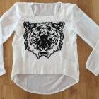 Biala bluzeczka z tygrysem