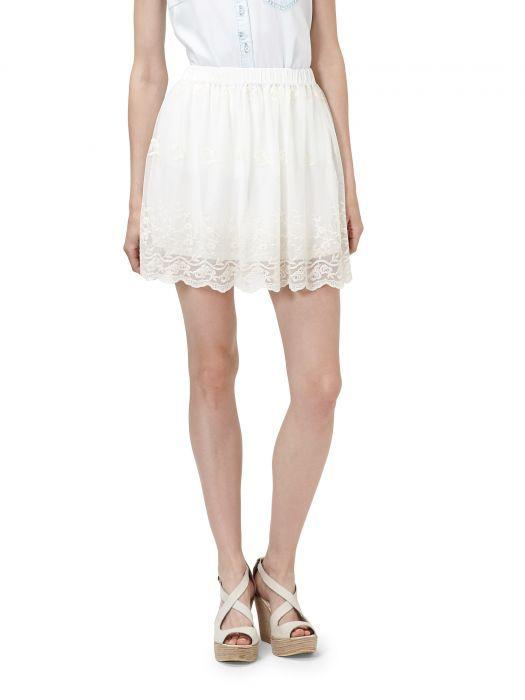 Spódnice Haftowana biała spódnica RESERVED XS