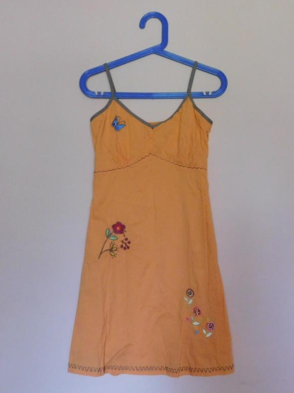 Suknie i sukienki Only pomarańczowa sukienka letnia 36