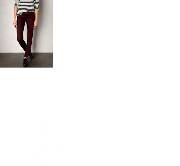 bordowe burgundowe spodnie rurki pull&bear ML 3840