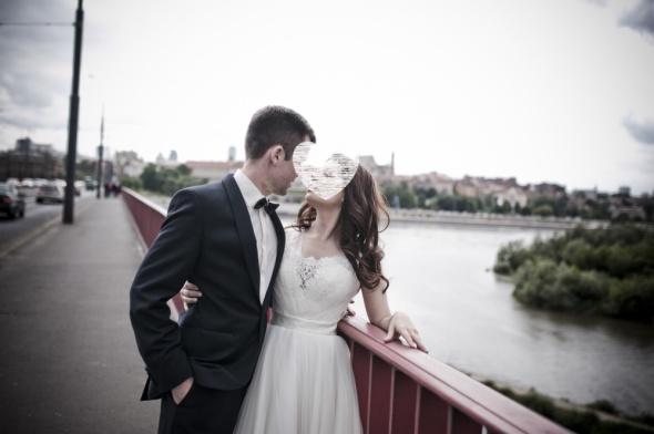 Piękna suknia ślubna Madonna 3436 ivory