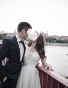Piękna suknia ślubna Madonna 3436 ivory...