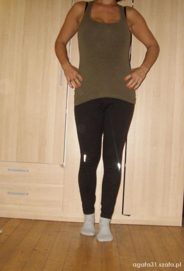 legginsy z odblaskowymi wstawkami