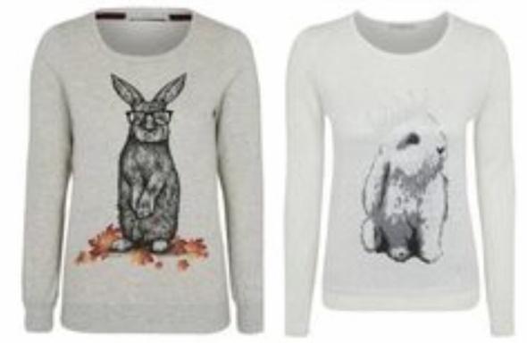 Bluzy z króliczkami