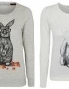 Bluzy z króliczkami...