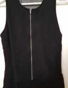 Czarna sukienka mini z siateczką Zara Trafaluc...