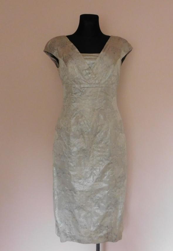 Solar sukienka beż srebrna 38...