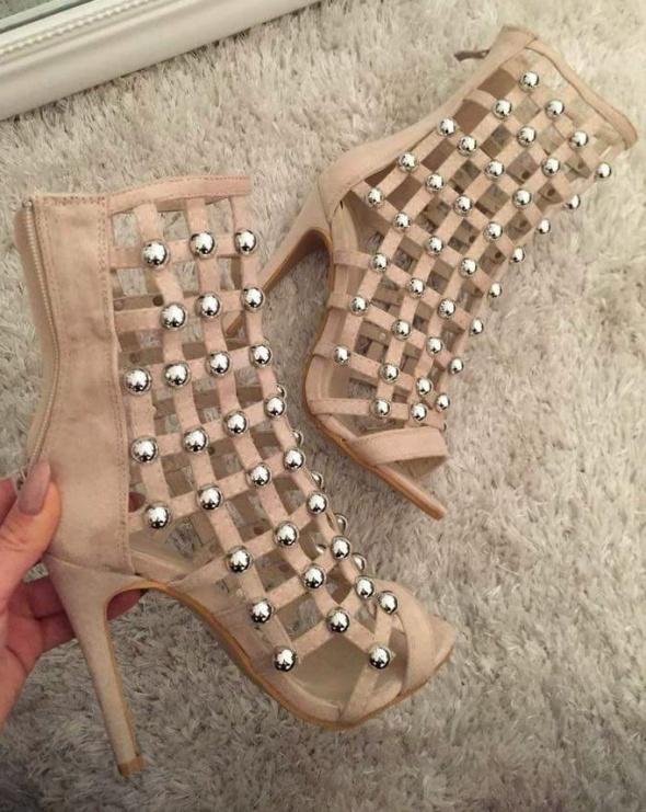 Sandały beżowe
