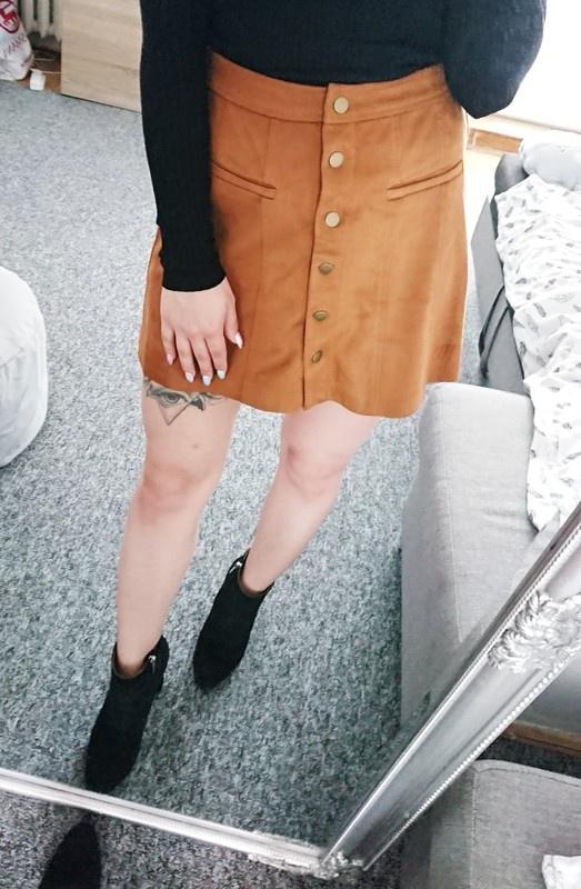 Spódnice Zamszowa spódniczka mini Zara NOWA