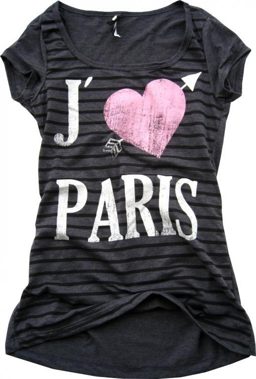 Bluzeczka z napisem Paris Paryż serce
