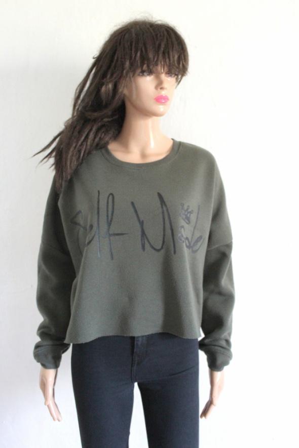 Bluzy Bluza khaki długi rękawek r M
