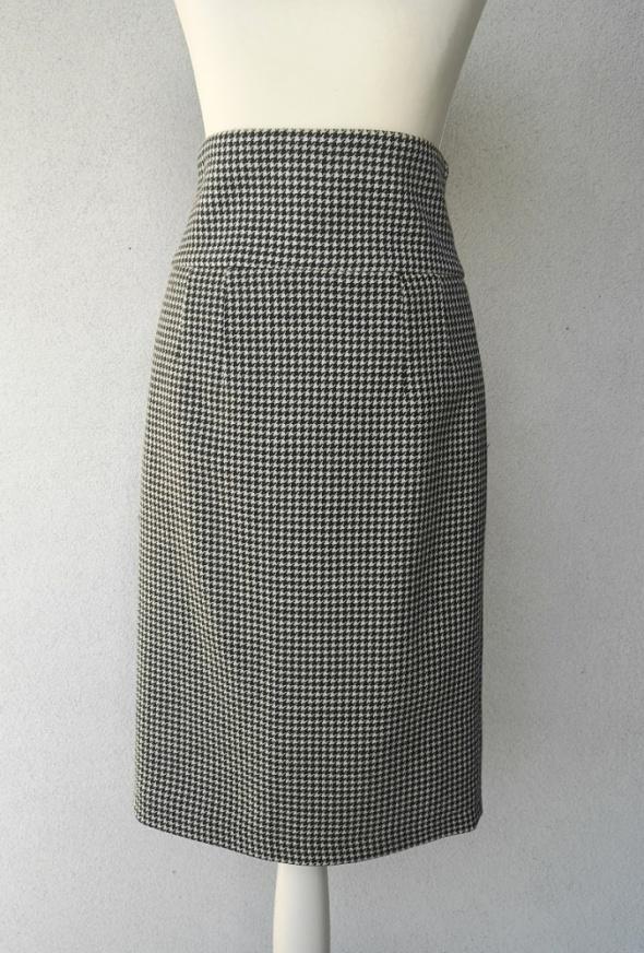 spódnica ołówkowa Zara pepitka wyższy stan S