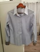 błękitna koszula burberry...