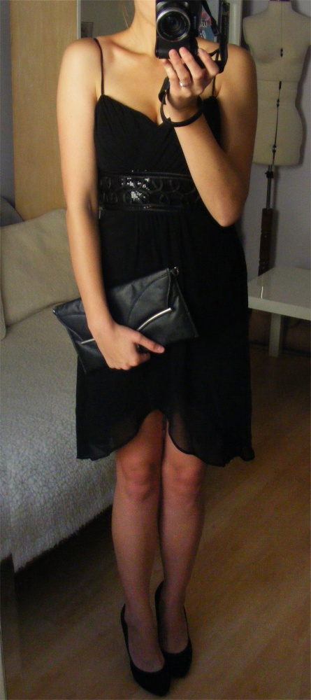 Desperado London kopertowa szyfonowa sukienka...