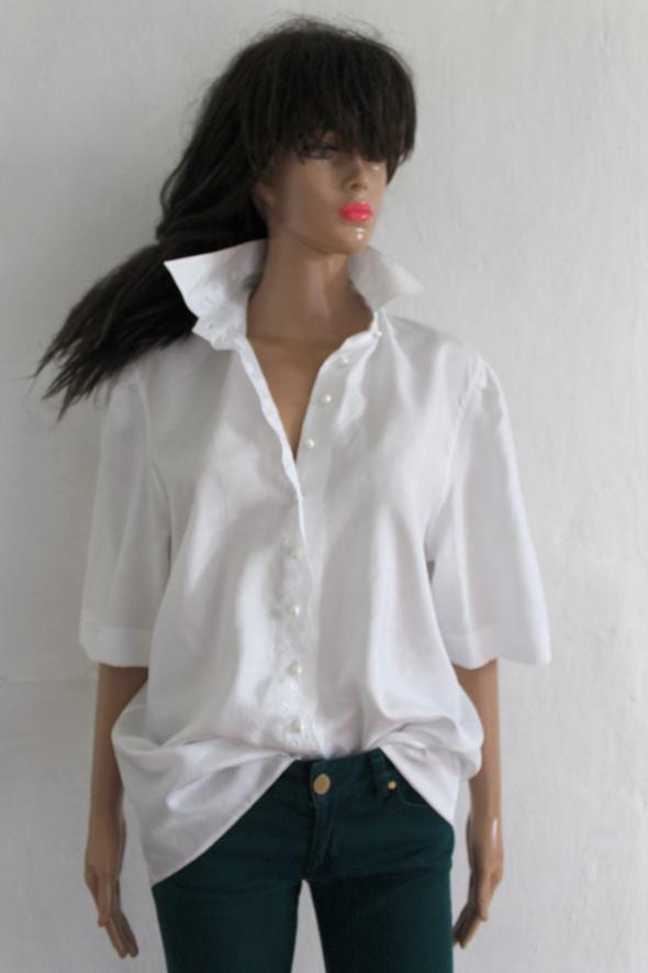 Lejąca haftowana koszula krótki rękaw r M...
