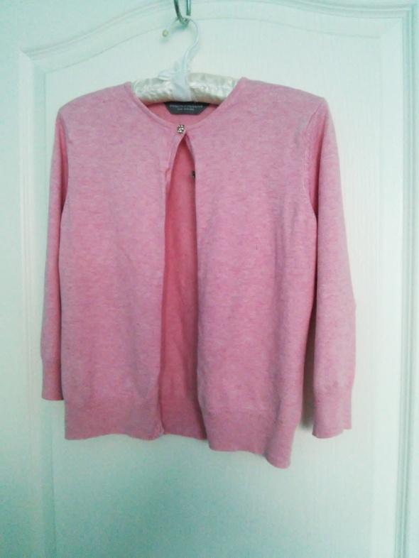 Swetry różowy sweterek rozpinany z cyrkoniami na guziki