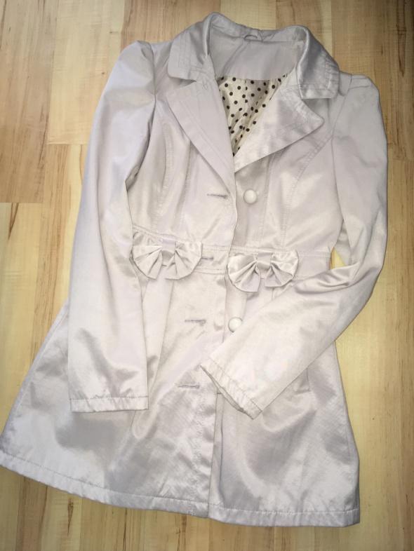 płaszcz płaszczyk jasny pastelowy szary S 36