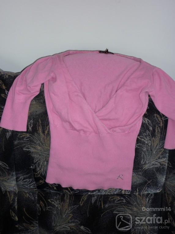 cieniutki sweterek różowy XS