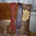 krawat fioletowy w kropki