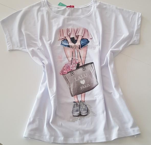 Nowa bluzka Tshirt modny print