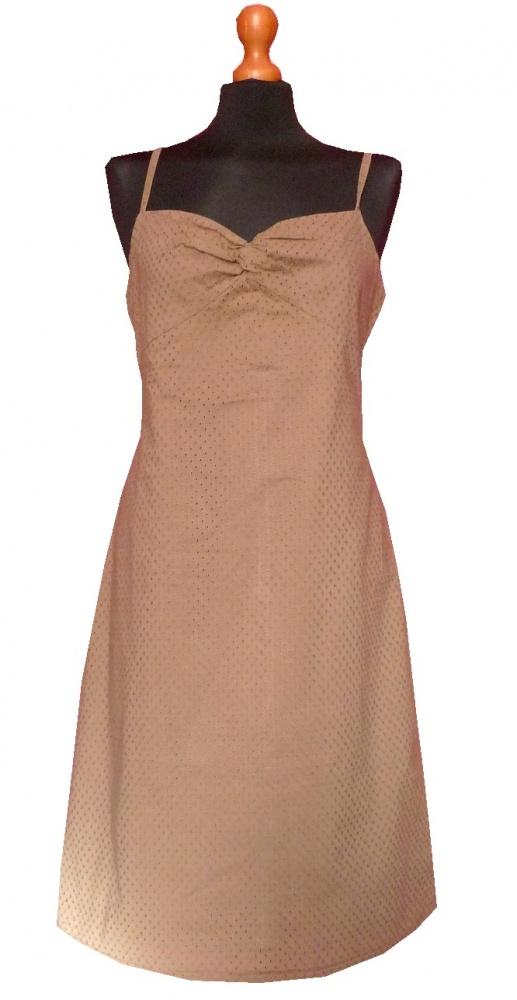 GAP USA sukienka vintage midi khaki XL