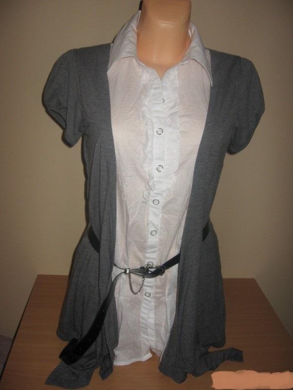 Koszule asymetryczny 2 w 1