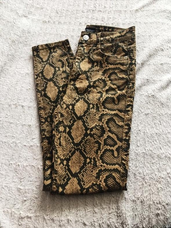 Spodnie Spodnie print węża