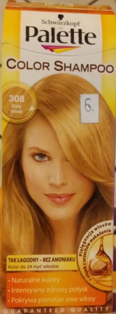 Farba do włosów palette 2 sztuki złoty blond szamp