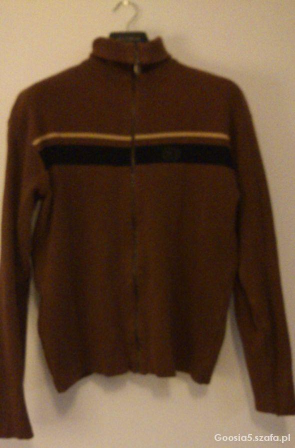 Brązowa bawełniana bluza z suwakiem