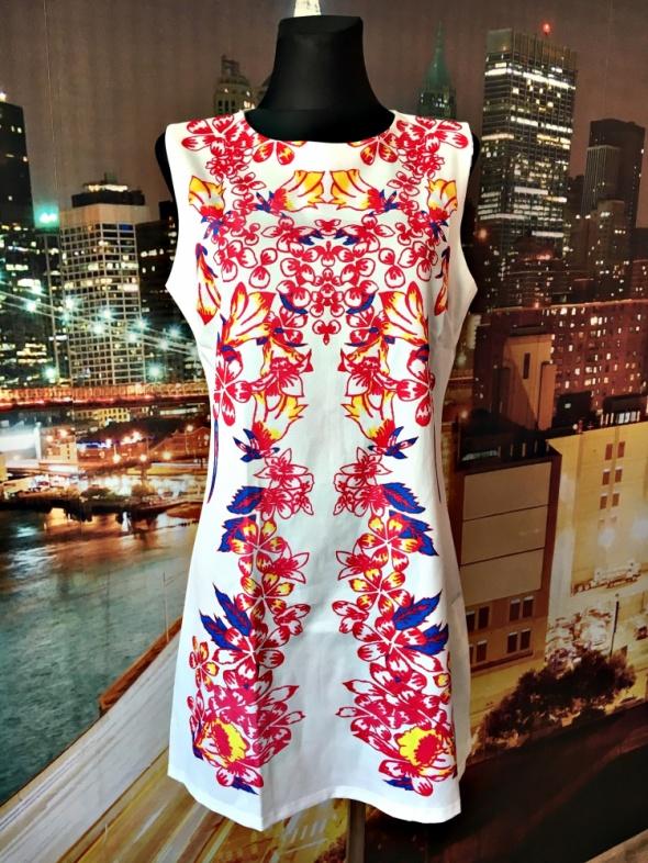 68275082b5ff8 Suknie i sukienki panacher sukienka wyszczuplający wzór zip hit blog 38 40