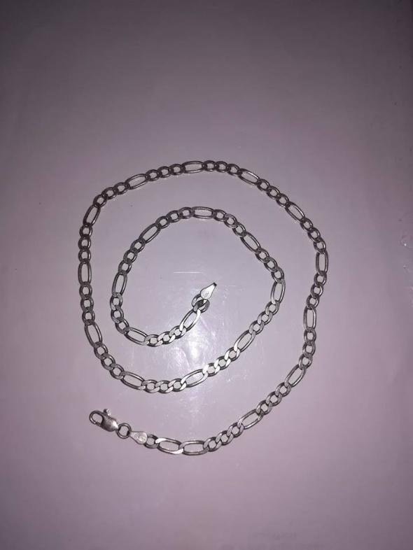 Masywny męski srebrny łańcuszek 925