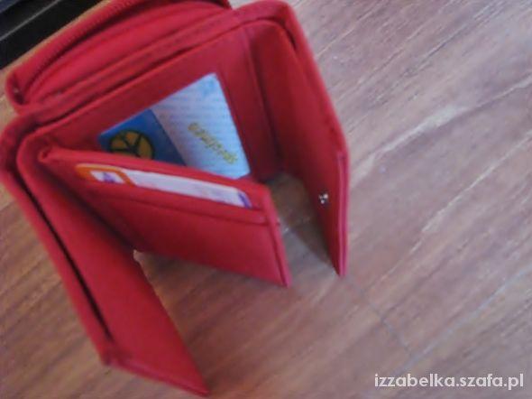 NOWY czerwony elegancki portfel