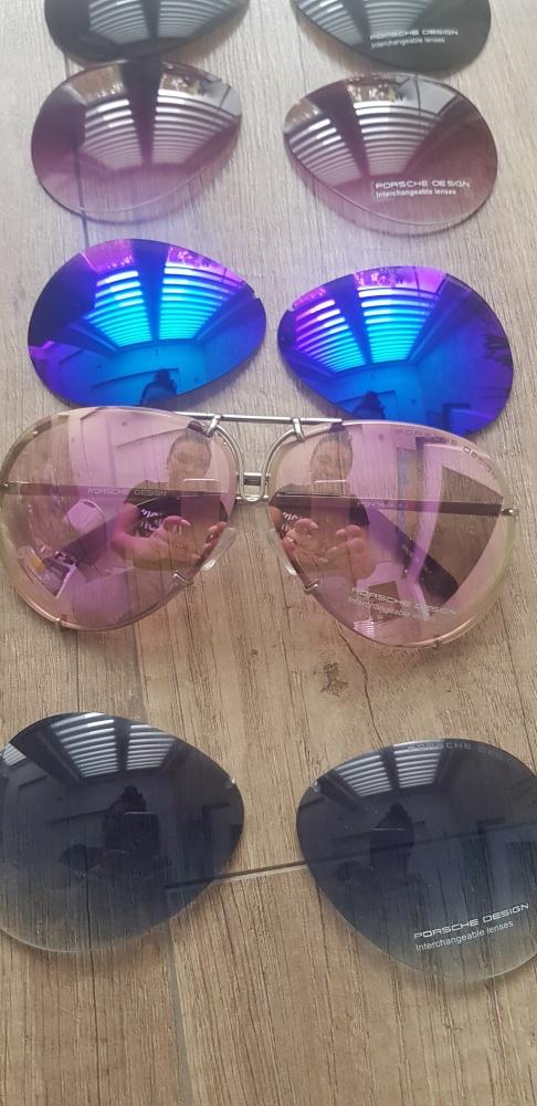 Okulary przeciwsłoneczne pilotki Porsche p7848 DESIGN srebne Nowe