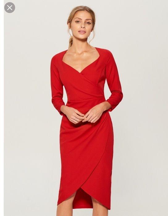 Czerwona sukienka Mohito stan idealny...