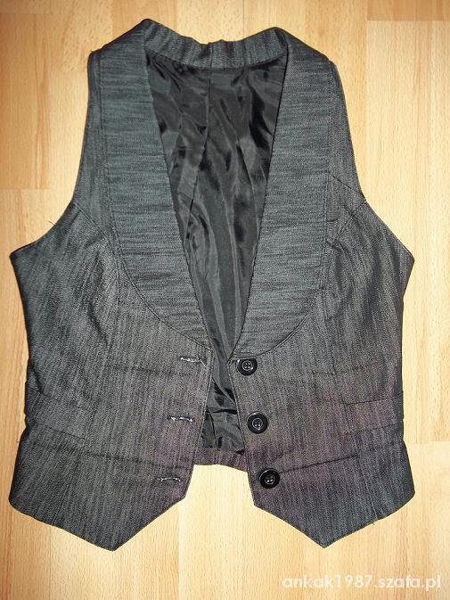 Czarna kamizelka elegancka