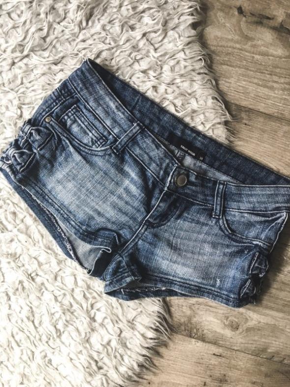 3 rzecz gratis krótkie jeansowe spodenki szorty z kokardkami Tally Weijl 38 M