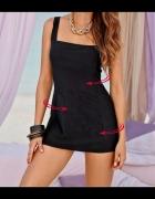 4 XXL Strój kąpielowy sukienka kąpielowa czarna...