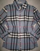 BURBERRY granatowa koszula damska w kratkę roz 36...