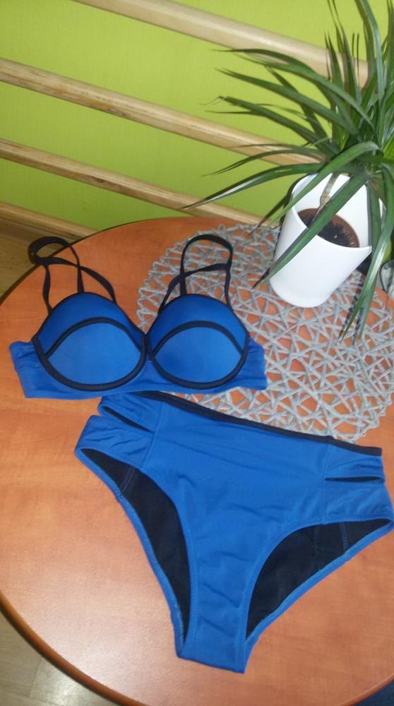 strój kąpielowy bikini river island wysoki stan S M...
